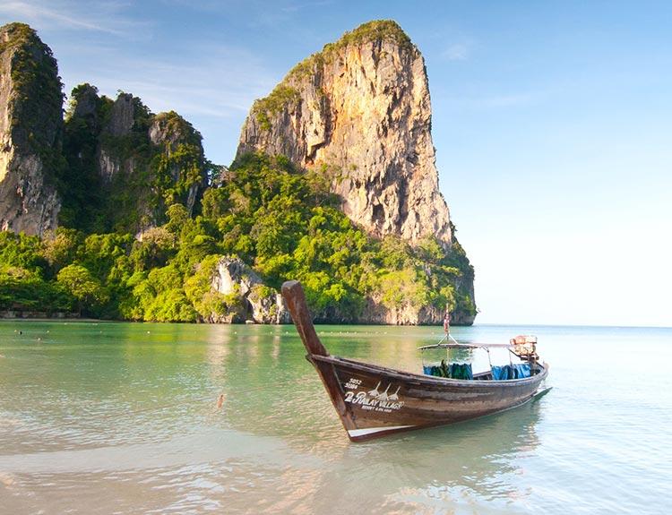 Пять самых красивых пляжей Таиланда Пляж Рейли, о. Краби (Railay beach, Krabi)