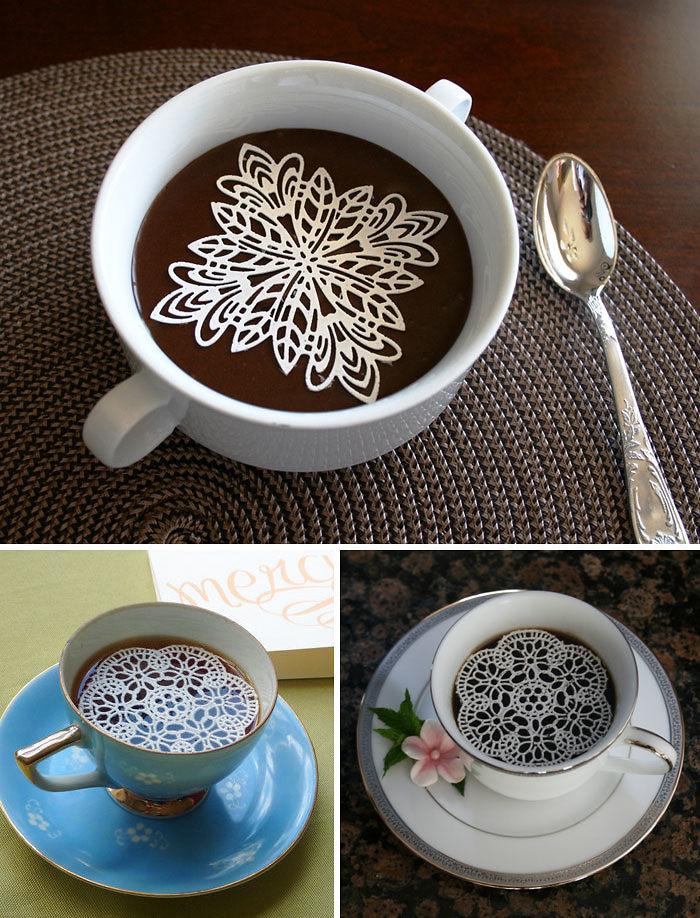 Подарки для любителей кофе съедобные сахарные салфетки