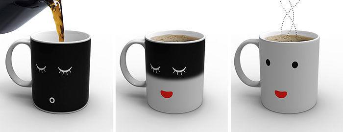 Подарки для любителей кофе кружка, которая меняет свой цвет