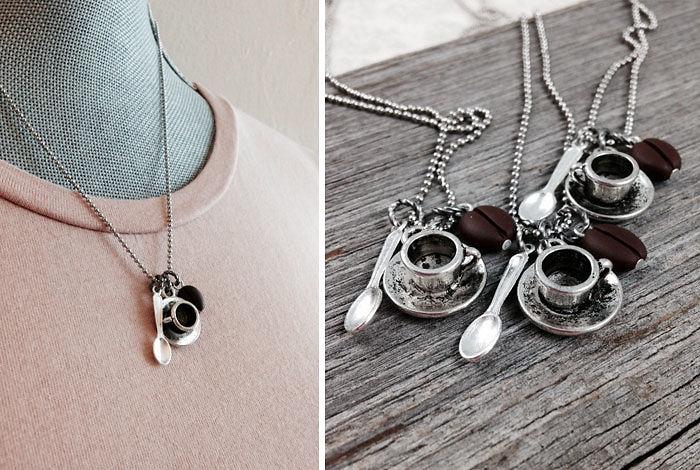 Подарки для любителей кофе кофейное ожерелье