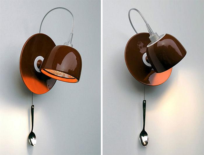 Подарки для любителей кофе кофейная чашка – настенный светильник