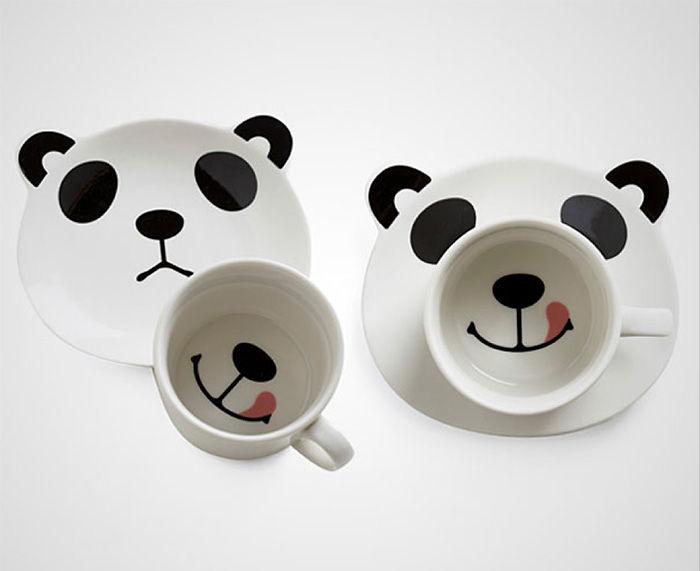 Подарки для любителей кофе улыбающаяся панда
