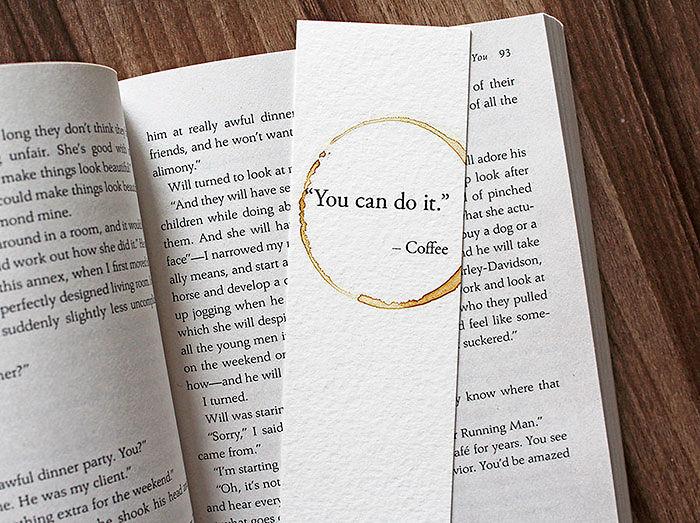 Подарки для любителей кофе стильные закладки для книг