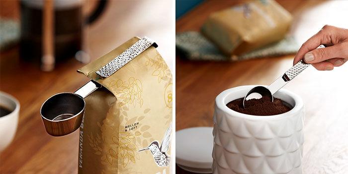 Подарки для любителей кофе ложка-зажим для пакетика