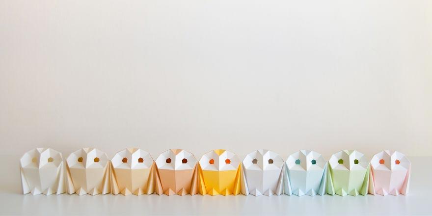 Лампы из бумаги в стиле оригами