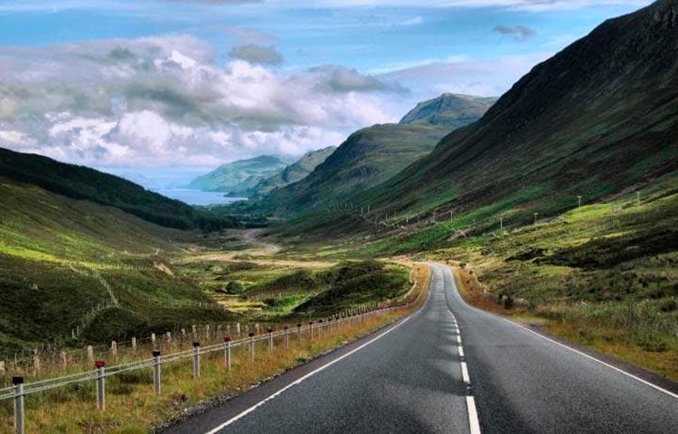 Захватывающие дороги North Coast 500, Шотландия.