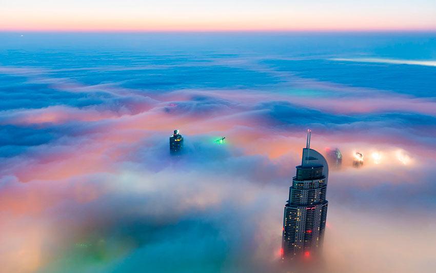 Немыслимый Дубай Центр на рассвете photos dubai