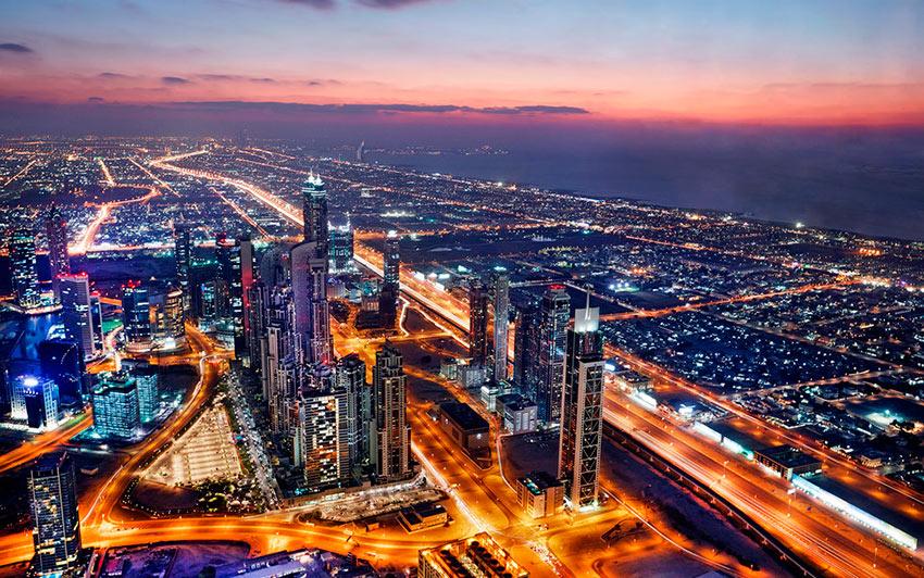 Немыслимый Дубай в сумерках photos dubai