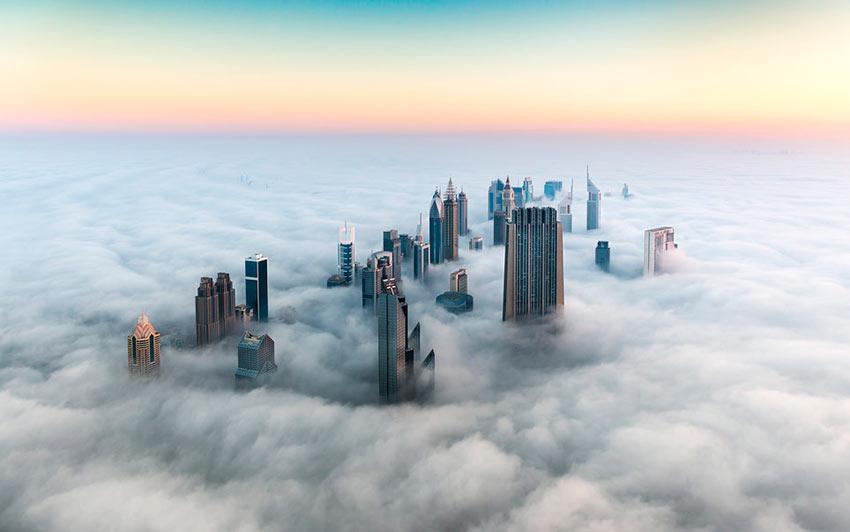 Немыслимый Дубай в тумане photos dubai
