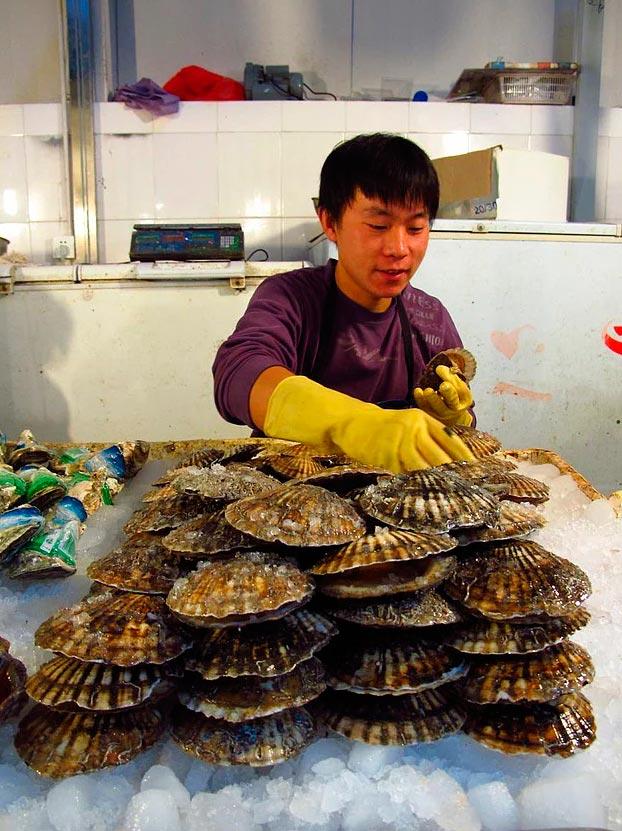 Продавцы уличной еды из разных уголков планеты торговец рыбой Пекин