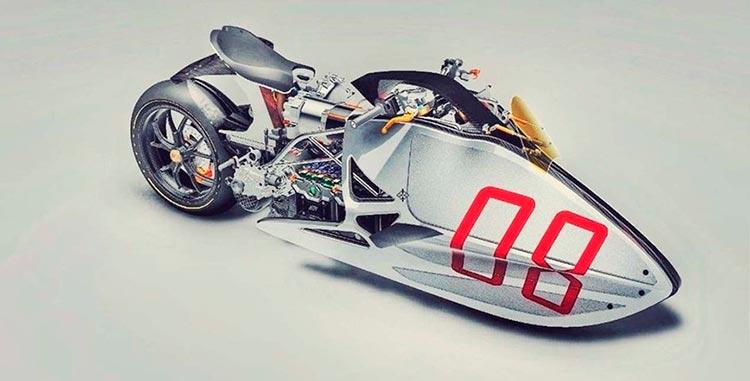 Крутой футуристический концепт мотоцикла Fulcrum Sprint
