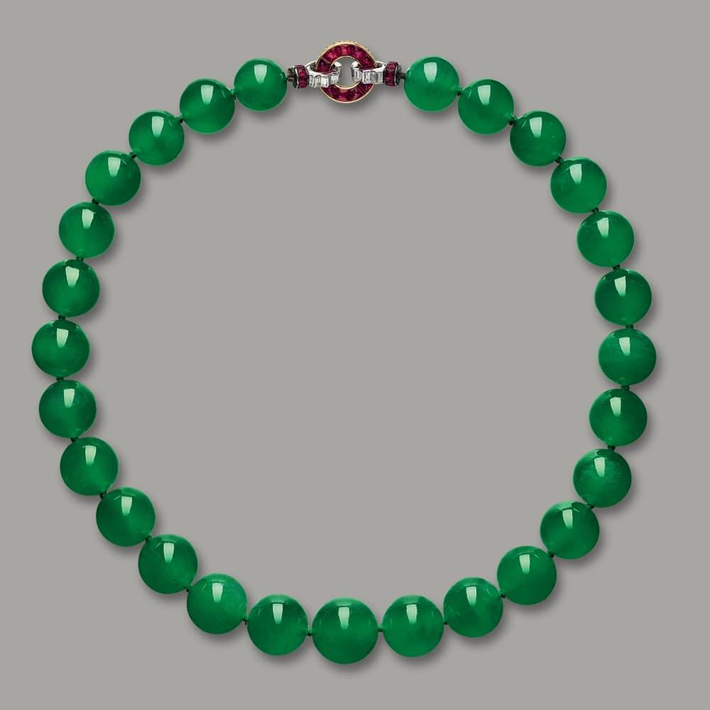 Самые дорогие украшения в мире Ожерелье Hutton-Mdivani Jadeite