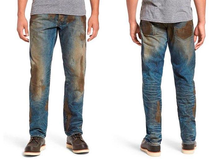 Самая нелепая одежда, Грязные джинсы.