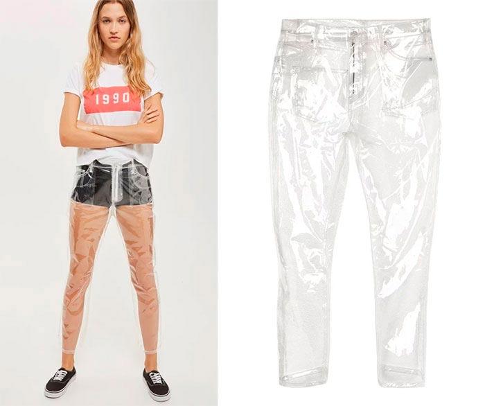 Самая нелепая одежда, Прозрачные брюки.