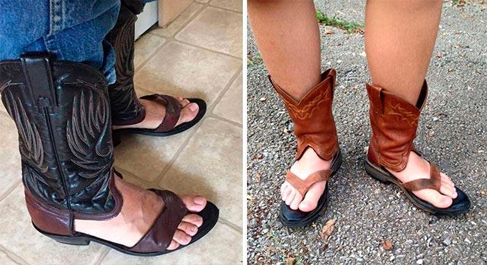 Самая нелепая одежда, Ковбойские сандалии.