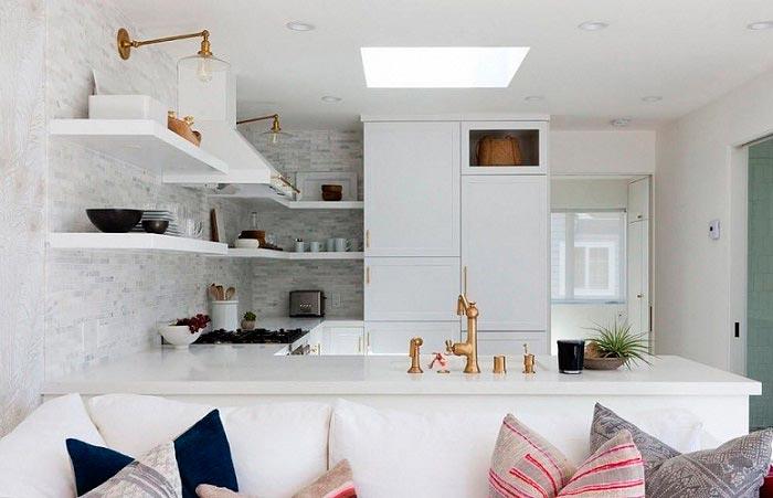 5 лучших идей дизайна для кухни площадью 7 кв.м Кухня-гостиная
