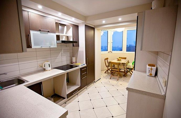 5 лучших идей дизайна для кухни площадью 7 кв.м Кухня, совмещенная с балконом