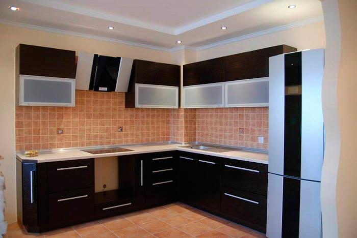5 лучших идей дизайна для кухни площадью 7 кв.м Прямая или Г-образная кухня в стиле минимализм