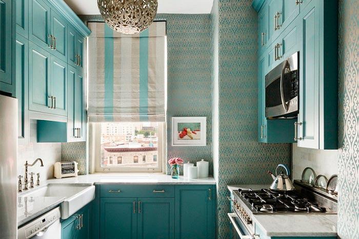 5 лучших идей дизайна для кухни площадью 7 кв.м Кухня с П-образной планировкой