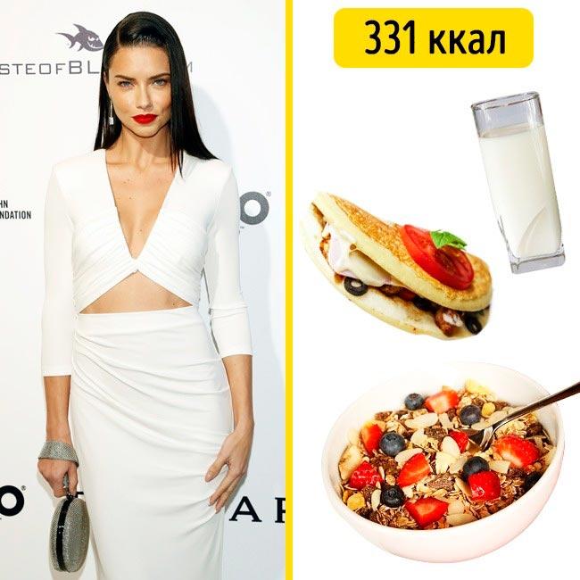 10 завтраков, которые помогают моделям поддерживать форму Адриана Лима