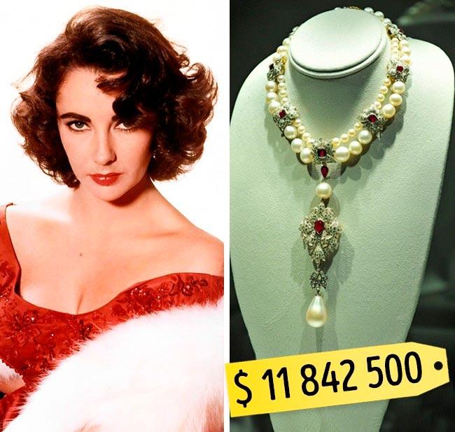 13 самых дорогих вещей знаменитостей Колье Элизабет Тейлор