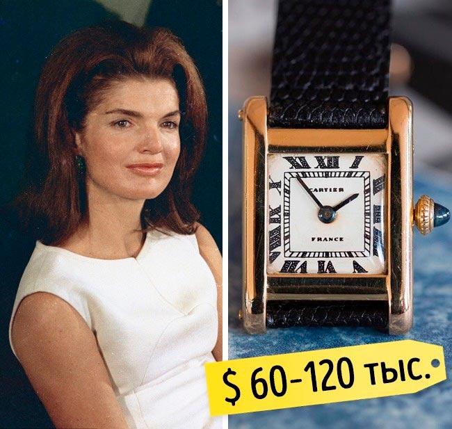 13 самых дорогих вещей знаменитостей Золотые часы Жаклин Кеннеди