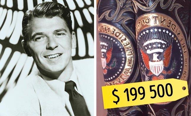 13 самых дорогих вещей знаменитостей Сапоги Рональда Рейгана