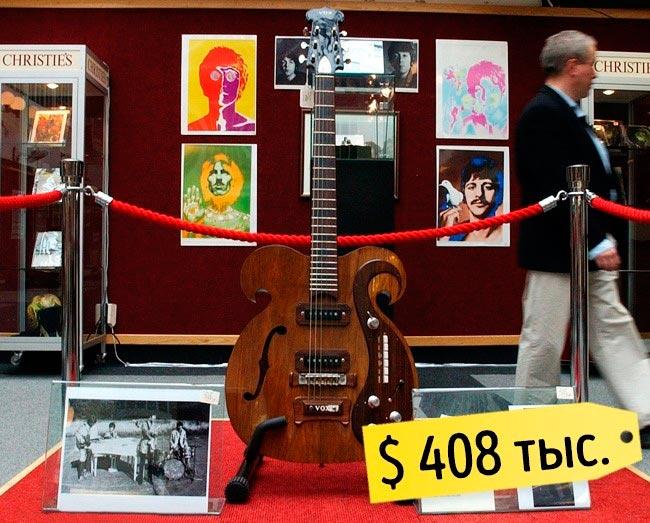 13 самых дорогих вещей знаменитостей Гитара Джона Леннона