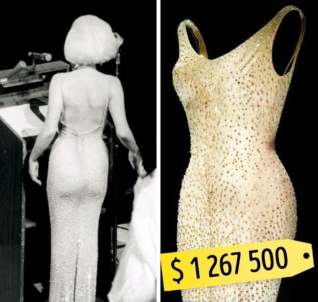 13 самых дорогих вещей знаменитостей Президентское платье Мэрилин