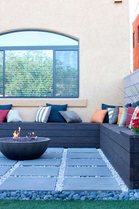 20 примеров самодельной деревянной садовой мебели Отличное место возле огня