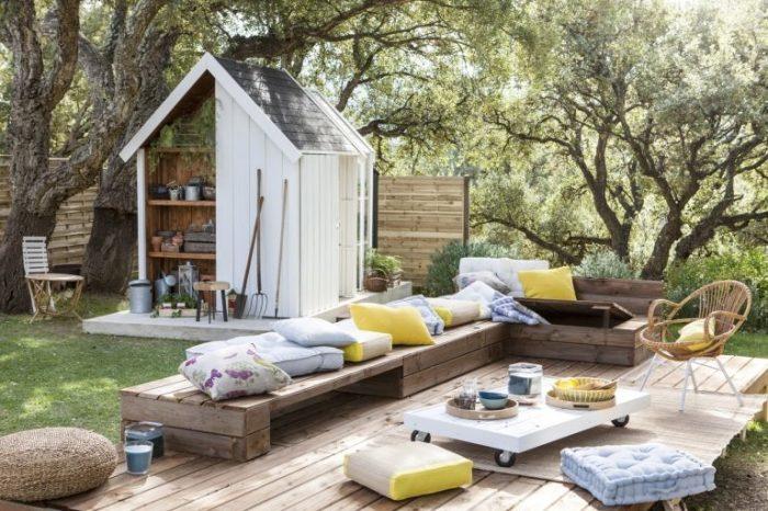 20 примеров самодельной деревянной садовой мебели Скамейки из поддонов