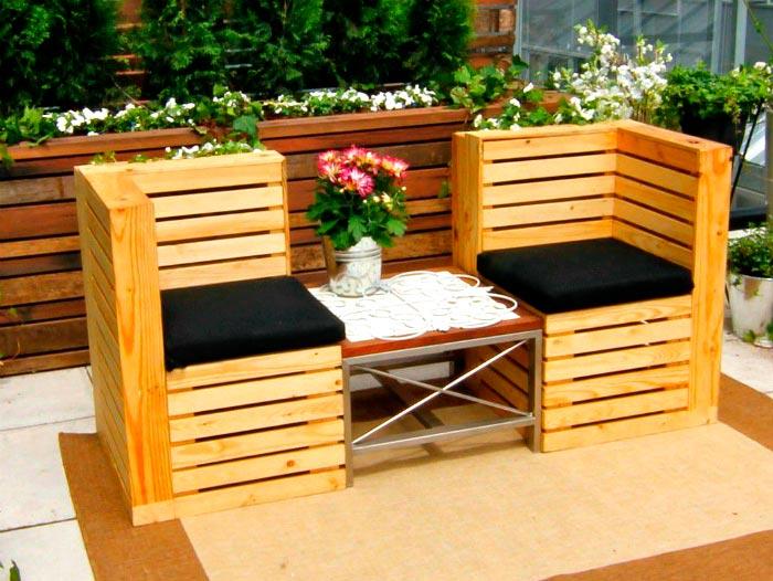20 примеров самодельной деревянной садовой мебели Стулья из поддонов