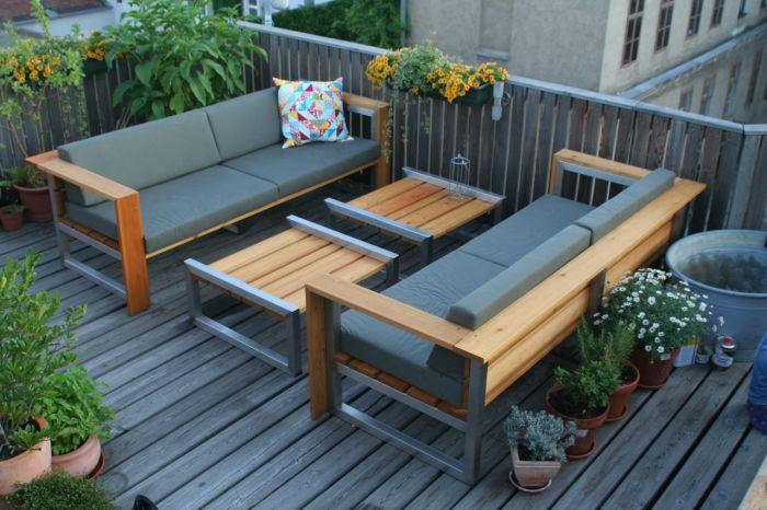 20 примеров самодельной деревянной садовой мебели Мебель из стали и дерева