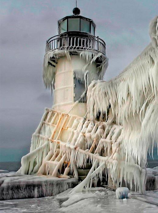 Самые красивые маяки мира Св. Иосифа на северном пирсе, штат Мичиган, США