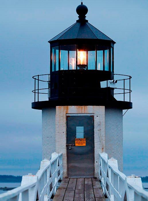 Самые красивые маяки мира Маршалл-Поинт, Мэн, США