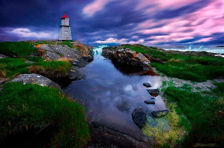Самые красивые маяки мира Молнес, Норвегия