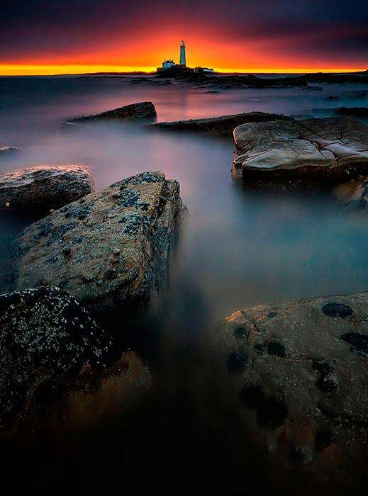Самые красивые маяки мира Святой Марии, остров Бэйт, Великобритания