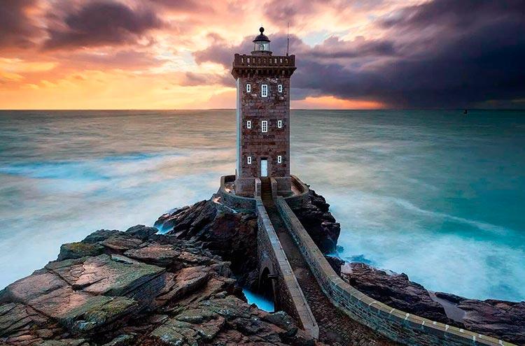 Самые красивые маяки мира Керморван, Бретань, Франция