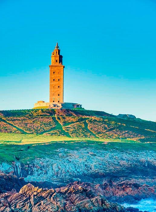 Самые красивые маяки мира Башня Геркулеса, Ла-Корунья, Испания