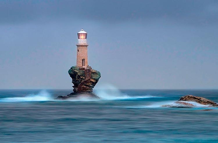 Самые красивые маяки мира острова Андрос, Греция