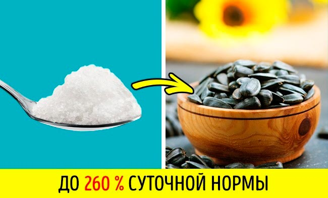 11 продуктов, в которых больше соли, чем вы думаете Жареные семечки