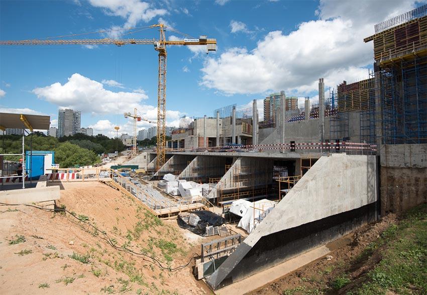 Мичуринский проспект как строится первая полуподземная станция