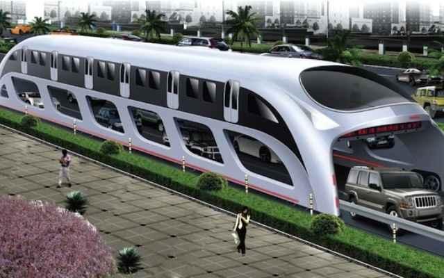 Супертехнологии: вертикальное метро Трансграничный автобус
