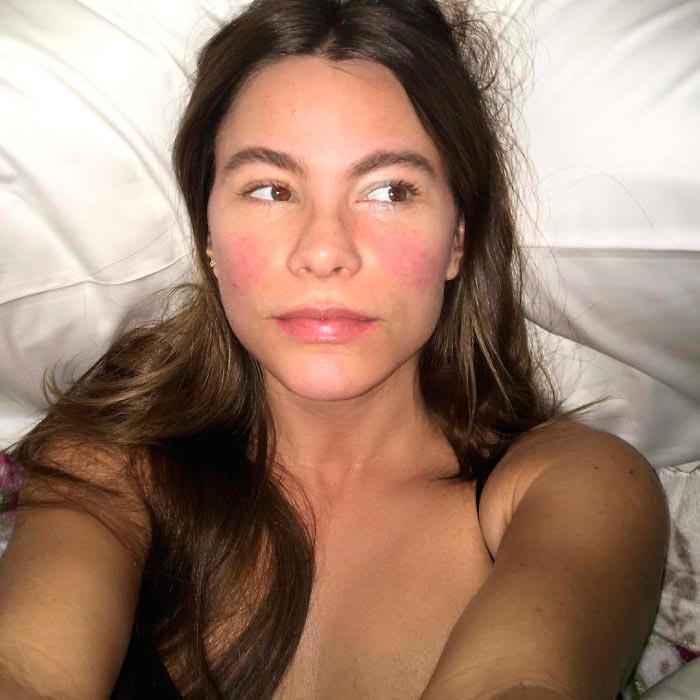 Знаменитости без макияжа София Вергара