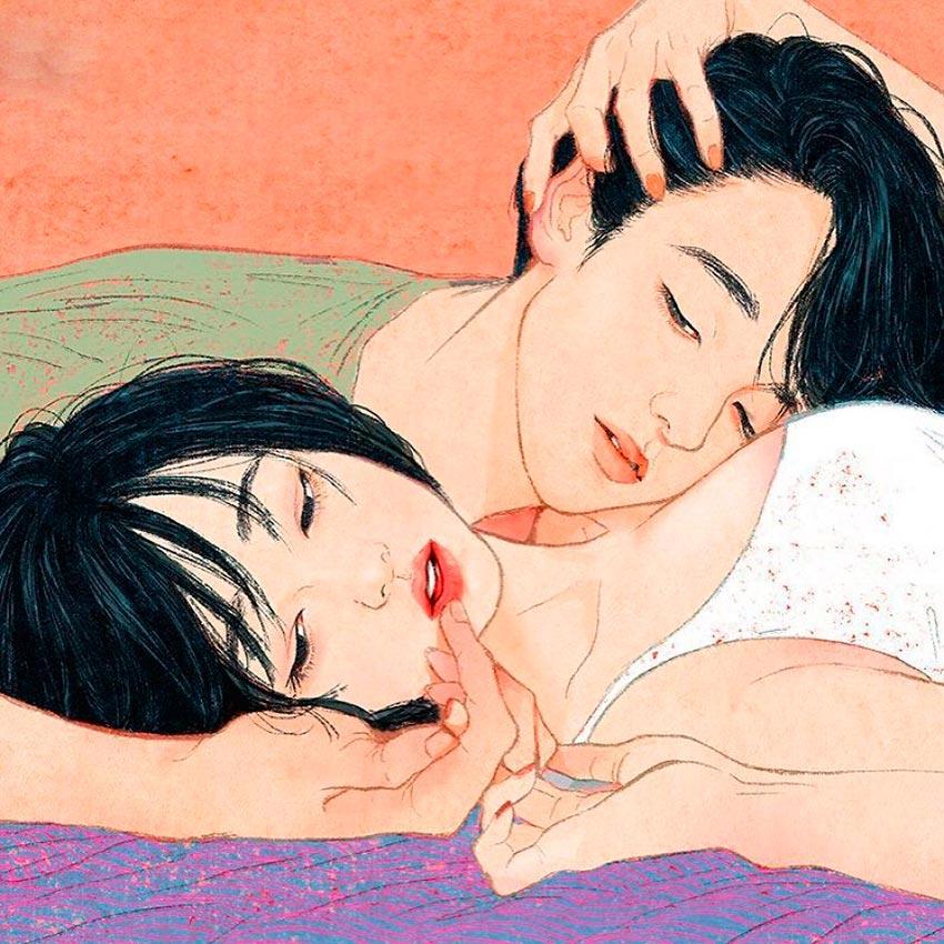 Корейский иллюстратор Zipcy Yang Se Eun история любви и близости