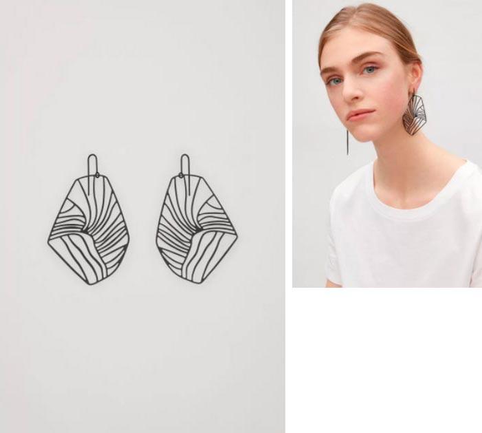 Красивые, броские и дешевые сережки для девушек COS