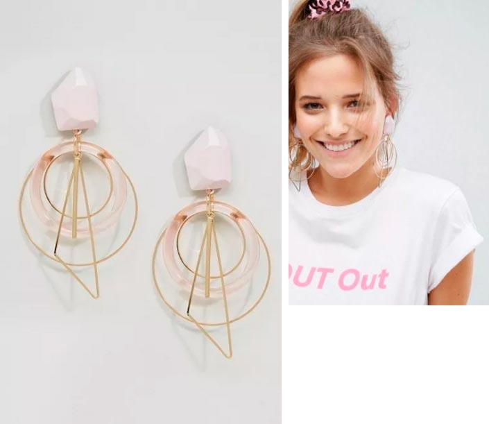 Красивые, броские и дешевые сережки для девушек Asos