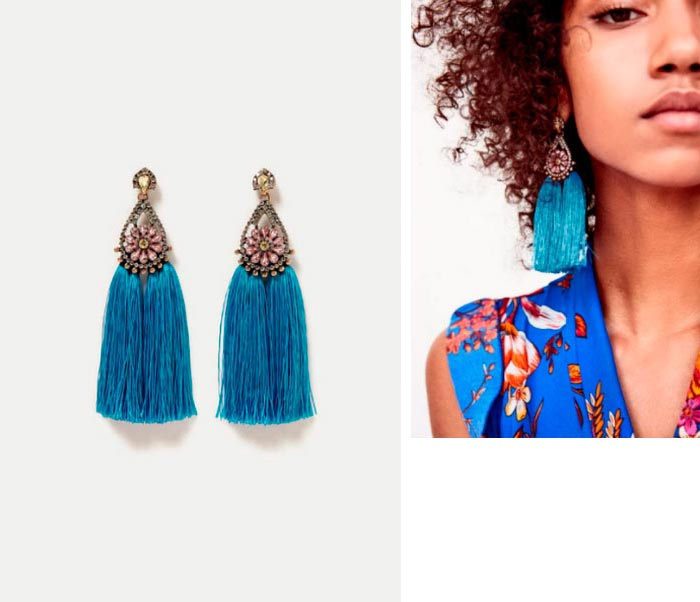Красивые, броские и дешевые сережки для девушек Zara