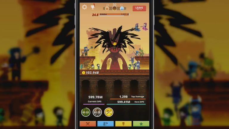 Крутые кликеры для Android Tap Titans