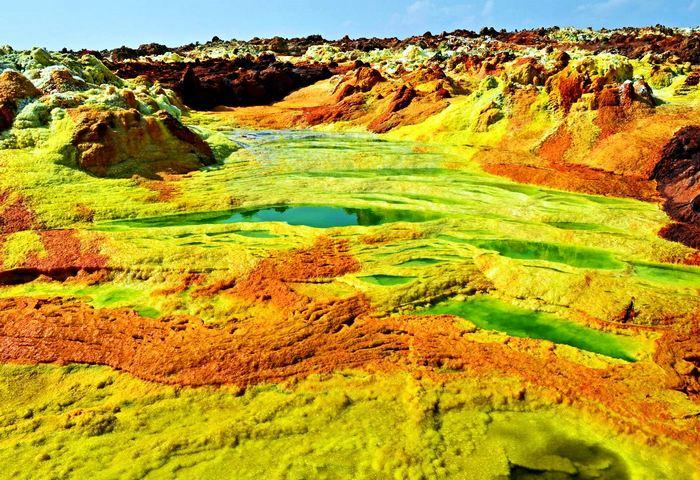Самые опасные места на Земле Пустыня Данакиль